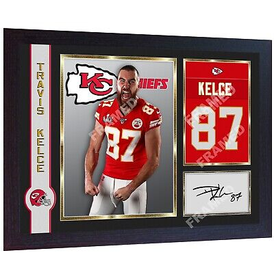Travis Kelce Kansas City Chiefs signed photo print autographed NFL FRAMED