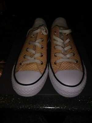 New, Girls All Star Converse Snake Skin Pattern Plimsolls Size 4 UK/36.5 EU....