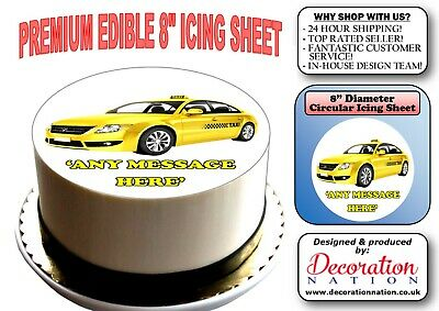 1HV LONDON TAXI edible,wafer,icing,precut,uncut,ribbon,cake,toppers