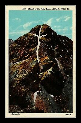 Us Linen Postcard Famous Mount Of The Holy Cross Natural Formation Colorado