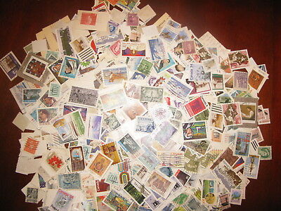 CANADA USED BULK OFF PAPER 4 OUNCES - 117 GRAMS  LOT - 1/4 pound