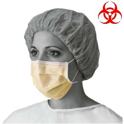 x 50  DISPOSABLE SURGICAL FACE MASK FOR VIRUS & FLU PROTECTION,ELASTIC EAR LOOP