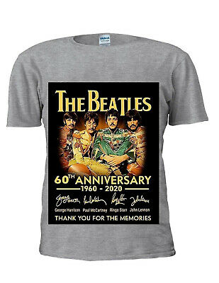The Beatles 60th Anniversary T Shirt Rock Band The Beatles Gift Top Unisex M491