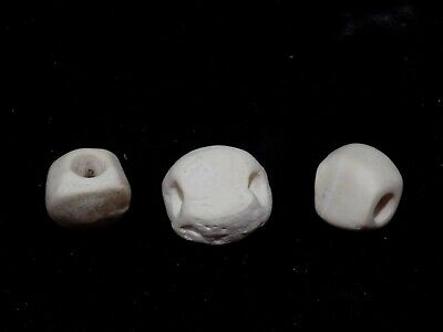Pre-Columbian Corn Kernel Shell Beads, Set of 3