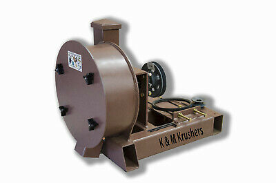 """Rock Crusher Gas-Gold Ore-11"""" Drum 2-1/2"""" Infeed-Rockwell #58 Hammers No Motor"""