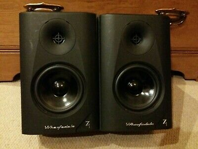 Pair of WHARFEDALE Diamond 7.1 2 Way Driver Bookshelf Speakers Black 100W