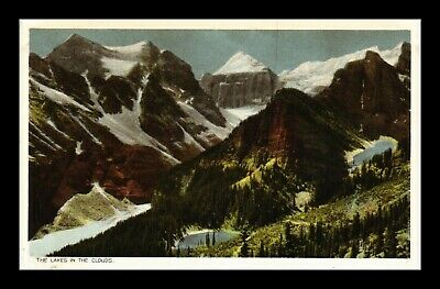Us Postcard Lakes In The Clouds With Snow Capped Mts Canadian Pacific Railway