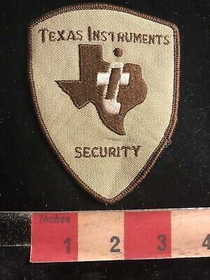 Vtg Police / Security Related Patch TI TEXAS INSTRUMENTS SECURITY 90RA