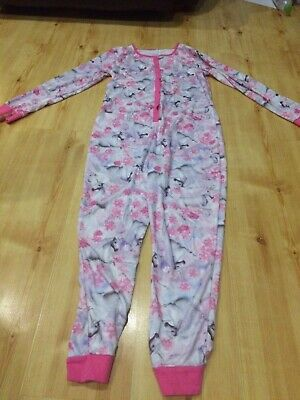 girls unicorn onsey Age 11-12 Years Onesey Pyjamas Pjs Sleepwear