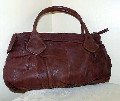 Adax brown soft leather handbag