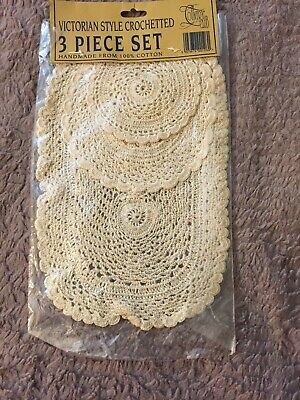 Hand Crocheted Doilies, New In Package