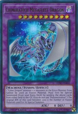 Chimeratech Megafleet Dragon LEDD-ENB00 Ultra Rare 1st NM Yugioh