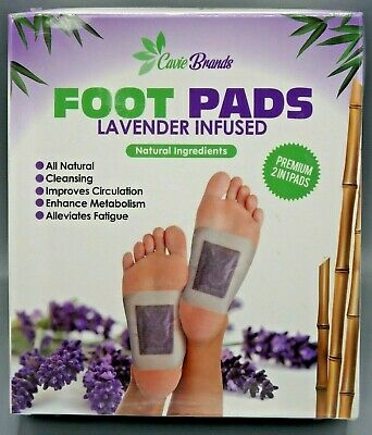 Cavie Lavender Infused Adhesive Foot Pads Relaxing Natural Cleansing Circulation
