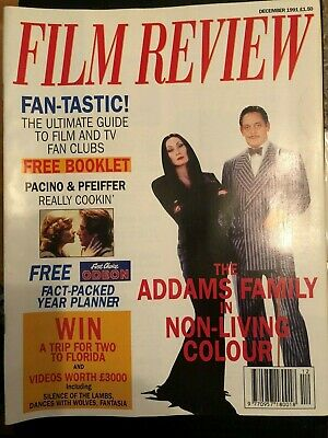 Film Review Magazine Dec 1991 Cover The Addams Family Booklet & Planner With Mag