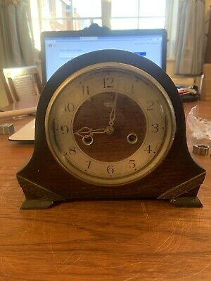 Smiths Enfield Mantle Clock Spares or Repairs With Key