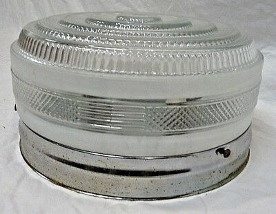 Antique Mid Century Modern Ceiling Light - C. 1955 Architectural Salvage