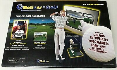 Q-Motion Golf Club Simulator and Swing Analyzer Game Tiger Woods