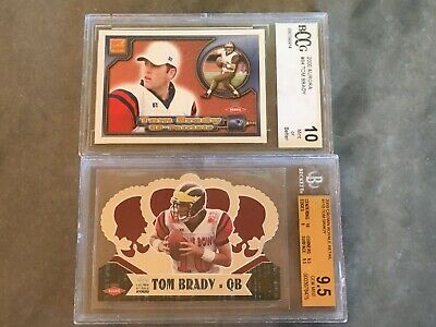 (2) Lot 2000 Tom Brady Rookie Cards New England Patriots