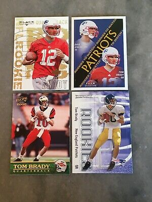(4) Lot 2000 Tom Brady Rookie Cards New England Patriots