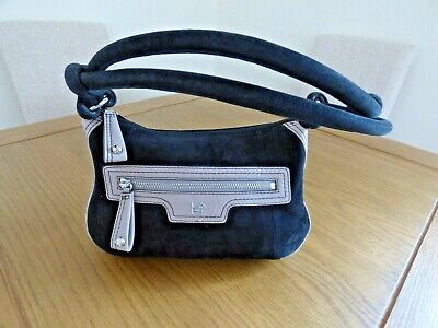 Radley bag. New. Black suede and taupe leather. Beautiful.