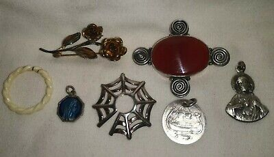 Hallmarked Solid Sterling Silver And White Metal Job Lot 21.50 Grams Scrap?