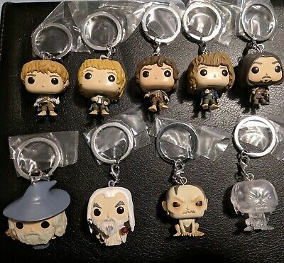Lord Of The Rings Mystery Funko Pocket Pop! Keychain Lot of 9