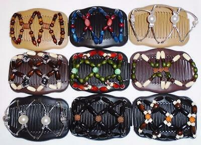 """African Butterfly Style US SELLER Quality MS47 Angel Wings Hair Clips 4x3.5/"""""""