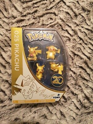 Pikachu Special Edition pokemon 20th Anniversary *4 Figures* Sealed in box