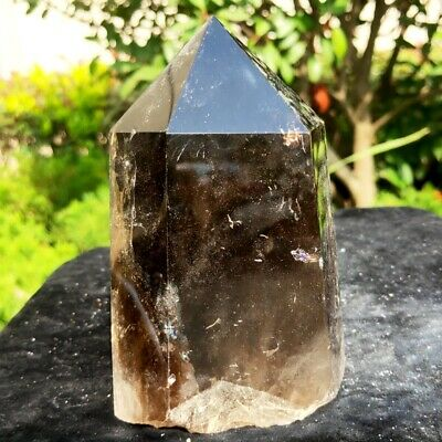 500g Natural Beautiful Smoky Quartz Crystal Obelisk Wand Point Healing Stone