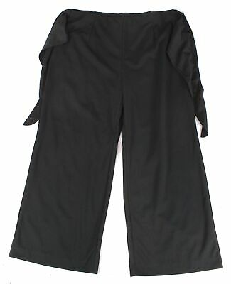 Alfani Womens Pants Black Size 3X Plus Wide-Leg Tie-Front Stretch $89- 342