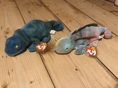 Ty Beanie Baby Iggy And Rainbow Mixed Up Tags