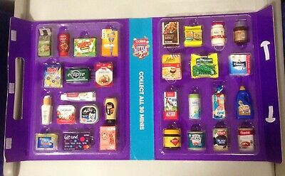Coles Little Shop 2 Collector's Case 30 Mini Collectables Complete Full Set