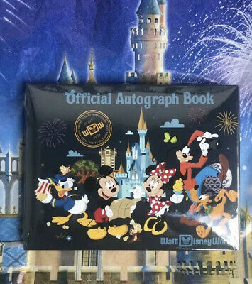 Walt Disney World Parks Mickey Mouse & Friends Official Autograph Book New