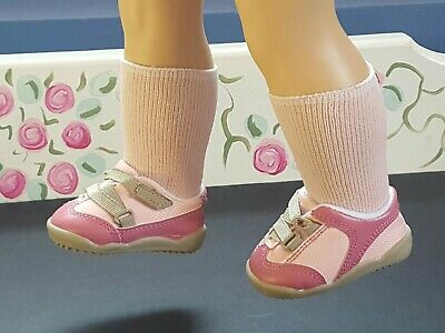 American Girl of Today PINK TENNIS SHOES with Socks*Retired from PETALS & PLAID