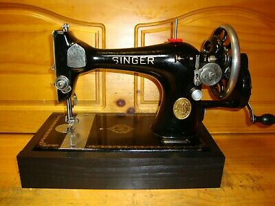 "Antique Singer Sewing Machine Model 128 ""Celtic Swirl"" ,Hand Crank, Serviced"