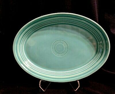 Homer Laughlin Fiesta Turquoise Oval Platter 9.5 ""