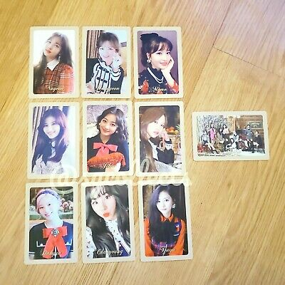 TWICE Official THE YEAR OS YES Preorder Photocard VER B CHAEYOUNG JIHYO MINA