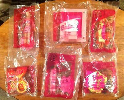 FACTORY SEALED 2002 McDonald/'s HAPPY MEAL TOYS BARBIE COMPLETE SET OF 6 NEW