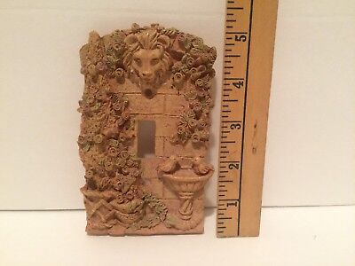 Light Switch Plate Cover French Garden Raised Design Birdbath Lion Head Flowers