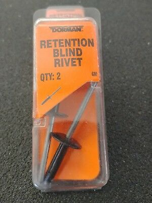 GM Body Rivet Blind Rivet 3/16 diam 963-205 package containing 2 rivets