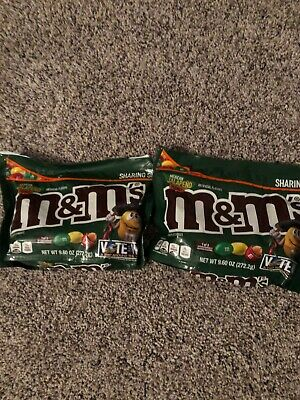M&M's Choc Candy Flavor Vote Mexican Jalapeno Peanut Limited 9.6 Ounce Bag x2