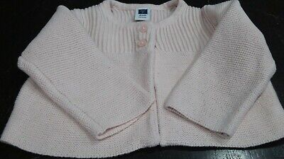 janie and jack infant girls pink sweater 3/6 mths beautiful