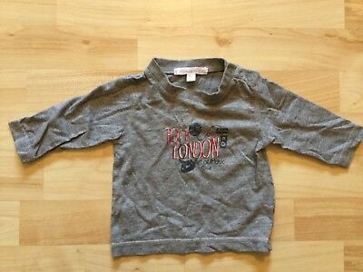 Baby boy's Vertbaudet grey long- sleeved t-shirt ( 3 months), pre-owned.