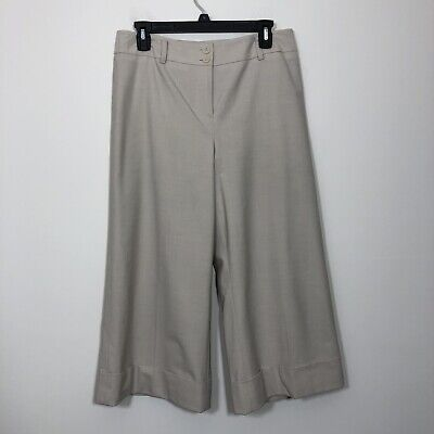LOFT by Ann Taylor Size 8 Tan Julie Wool Blend Capri Dress Pants