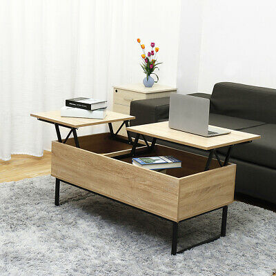 Lift Top Coffee Table Dining Table With Hidden Compartment & Storage Space