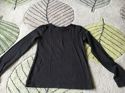 Girls Black Long sleeved Tshirt Aged 11 Years