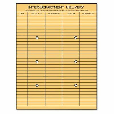 Universal 63568  Kraft String & Button Inter-Department  Envelope, 10 x 13