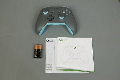 Genuine Official Xbox One Wireless Controller Gamepad Gray & Blue