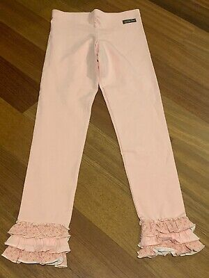 Nwot Matilda Jane MJ Peachy Pink Ruffle Leggings Sz 10