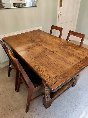 Antique Solid Oak Dining Table (no chairs)